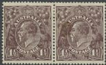 SG 51 ACSC 84(3)h. KGV Head 1½d Black-Brown pair (AHSMP/360)